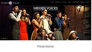 Site visuel responsive du groupe Hidden Voices des Pyrénées Orientales créé par Catseo.fr