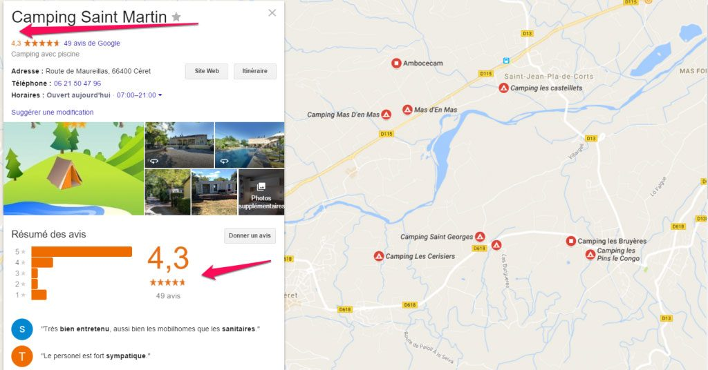 Gestion avis fiche google my business 66