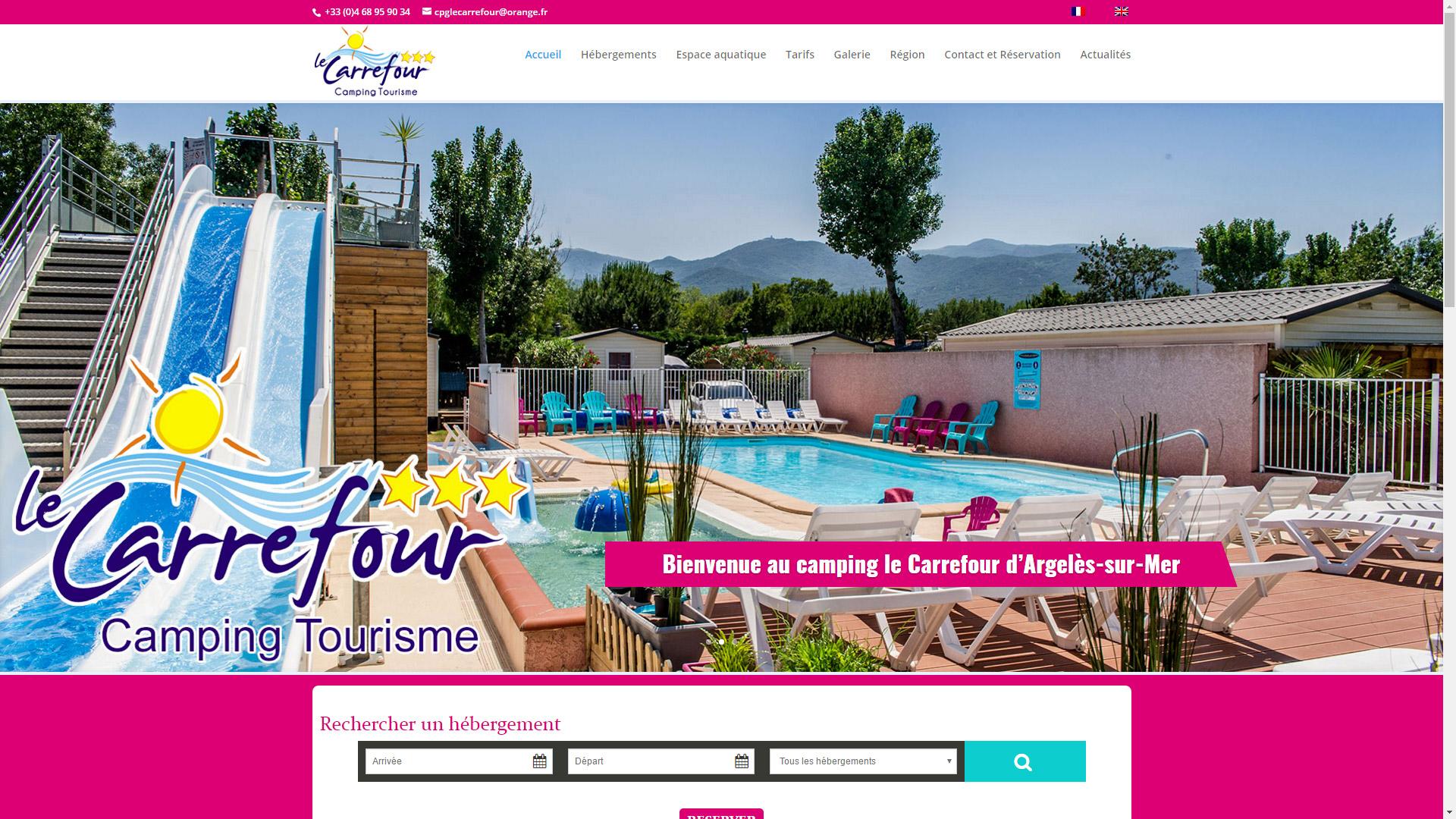 Création du site du Camping Le Carrefour à Argelès