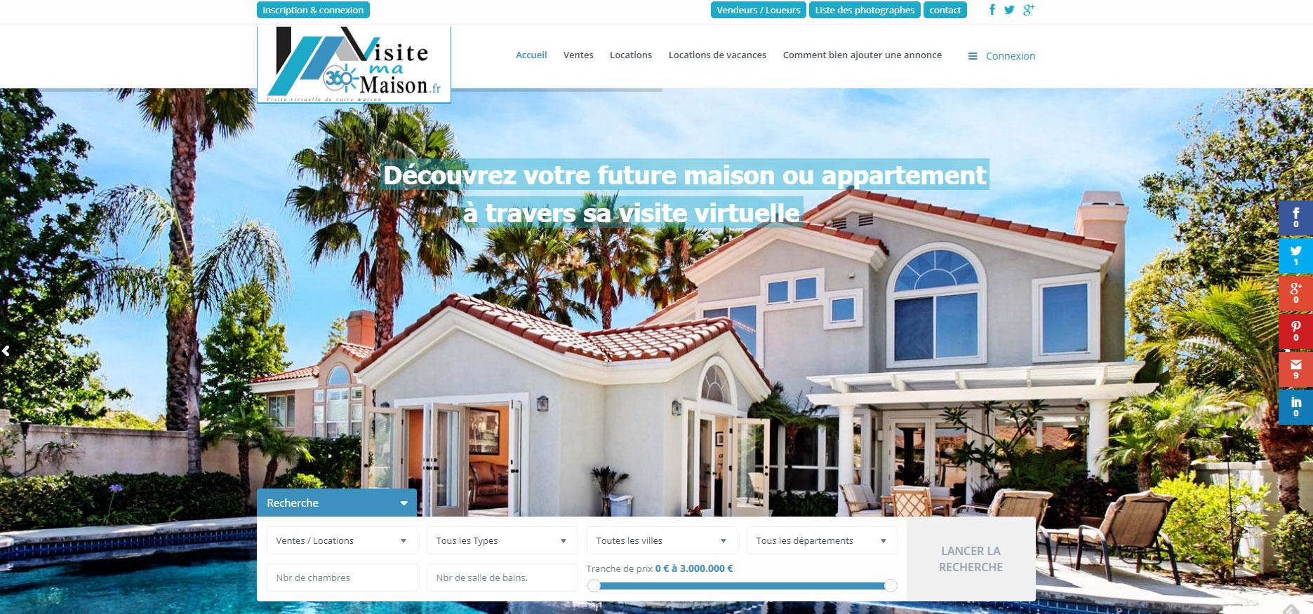 Creation Site Internet Visite Virtuelle Maison Agence Immobliere