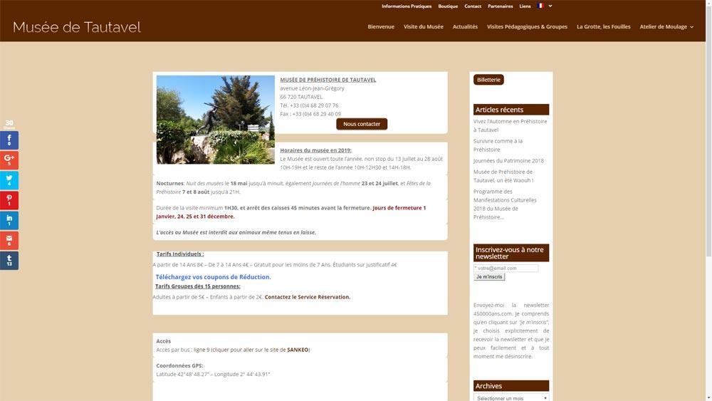 Site du Musée de la préhistoire de Tautavel (66)