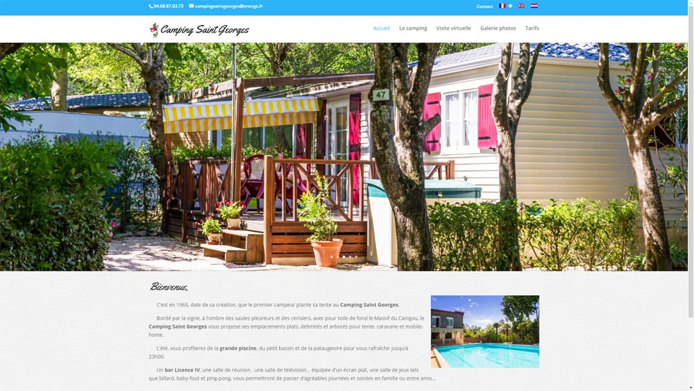 Site du camping Saint Georges à céret (66)