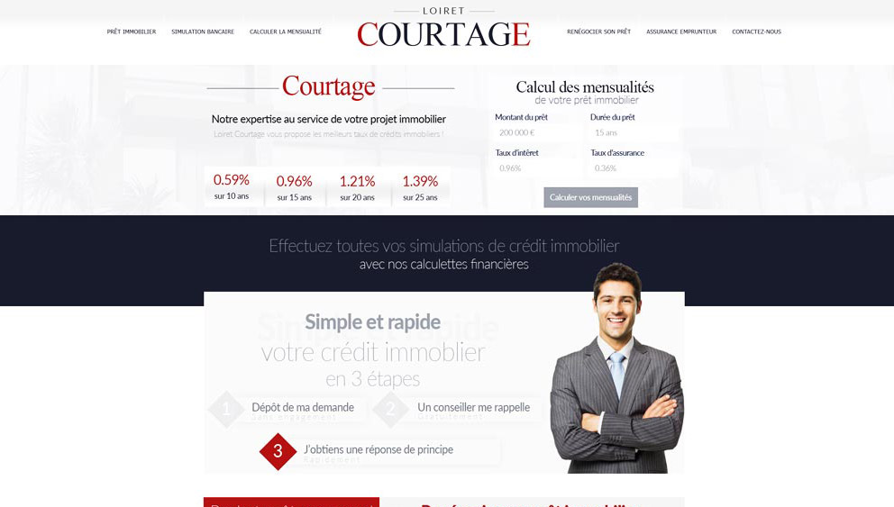 Creation site internet courtage