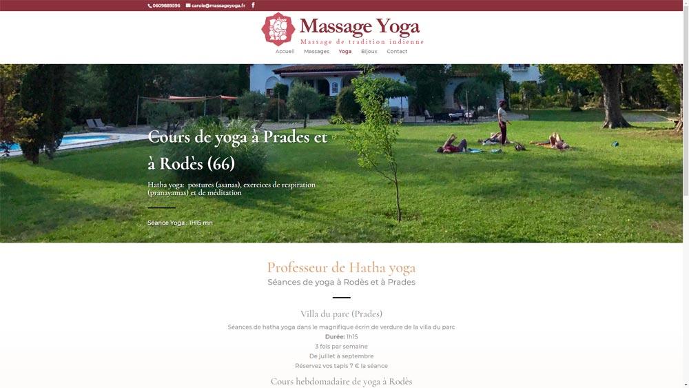 Site d'une spécialiste du massage ayurvédique à Prades (66)