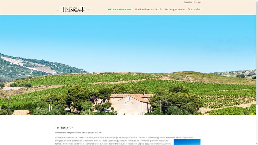 Site d'un vigneron : le mas Trincat à Salses Le Château (66)