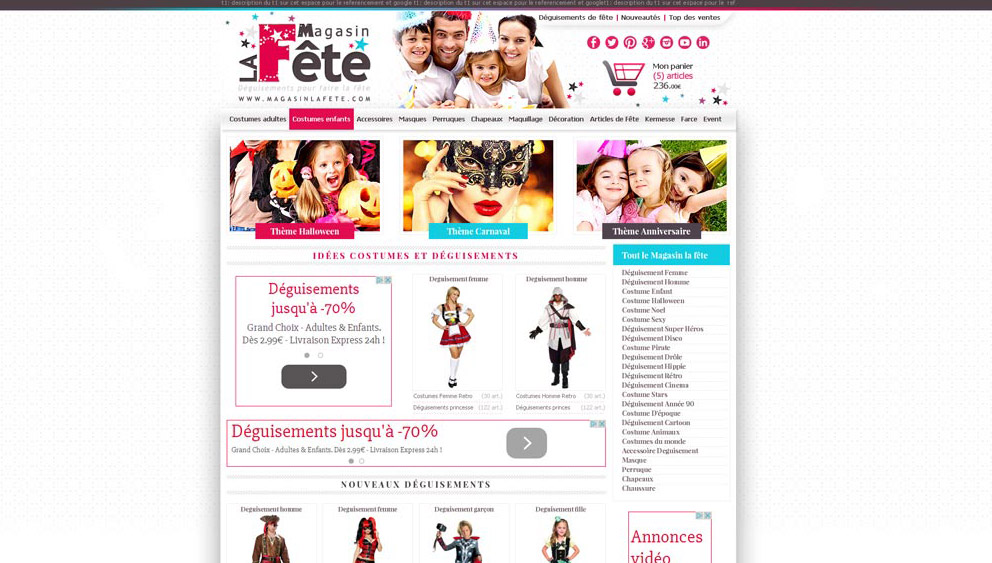 Site e commerce perpignan deguisement