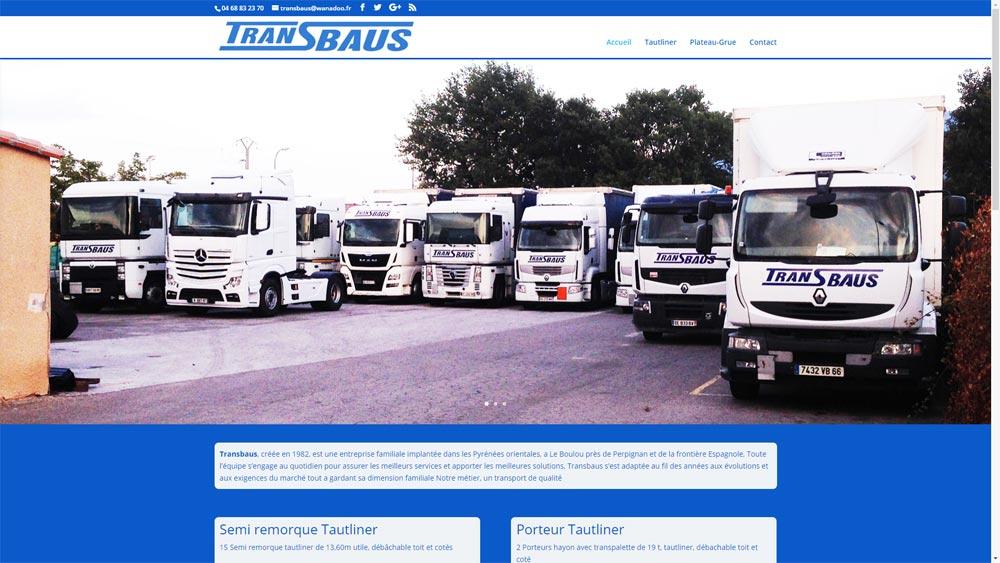 Site d'une société de transport de Le Boulou (66)