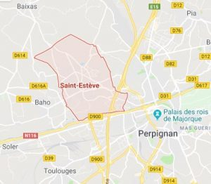 Carte saint esteve