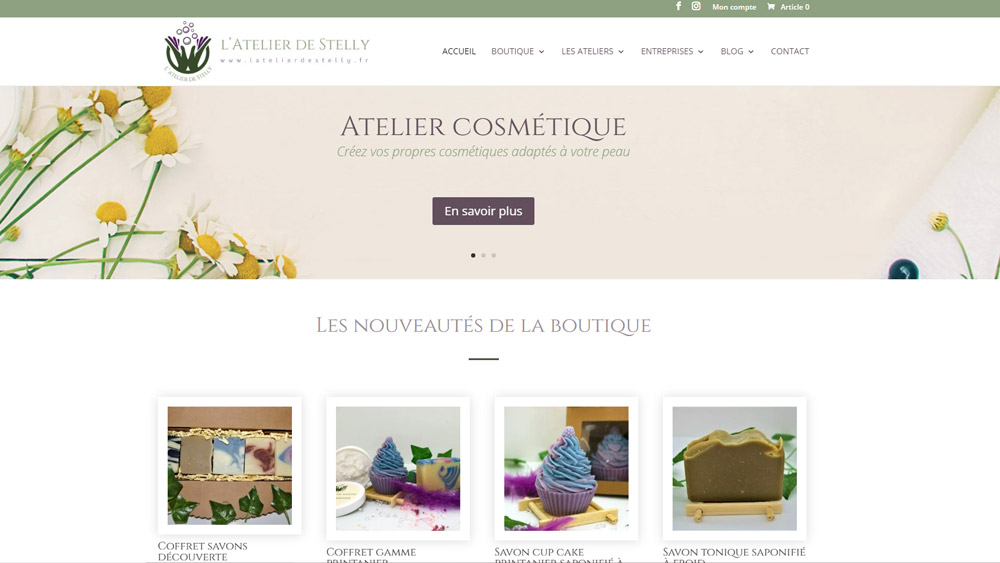 Creation site e commerce savonnerie 66