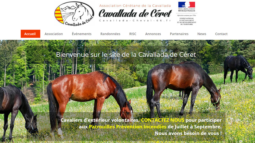 Creation site internet association cavallada de ceret
