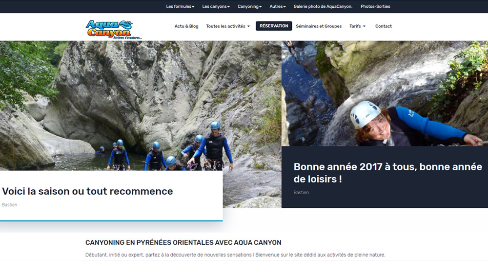 Refonte site internet canyoning